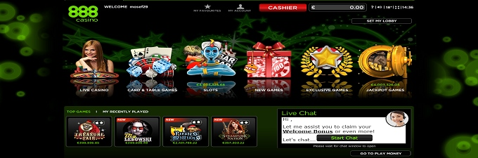 on www net casino 888