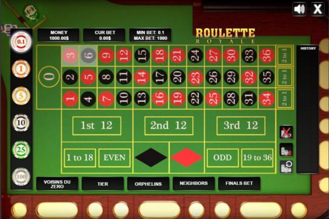 Oline roulette hosting online gambling site