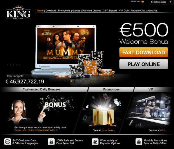 Regular Bonus: €500 First Deposit: €100 First Deposit Match: 100% Minimum Deposit: €20