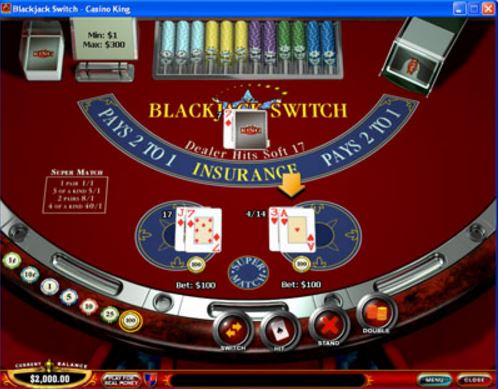 Blackjack switch tips
