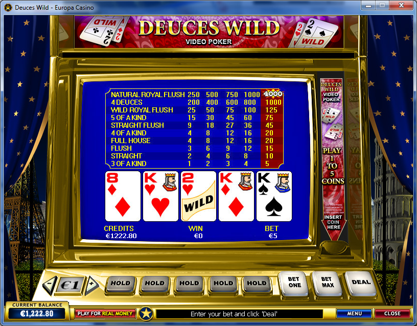 Casino deuces online poker video wild best casino gamble internet