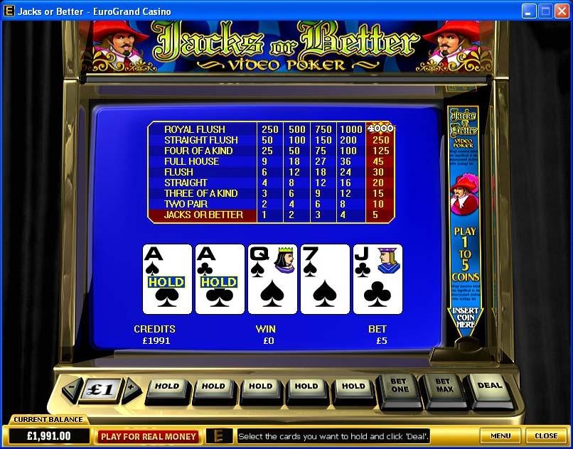Правила игры Видео Покер